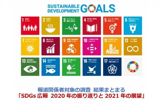 【PR総研】報道関係者対象の調査「SDGs広報 2020年の振り返りと2021年の展望」 結果について